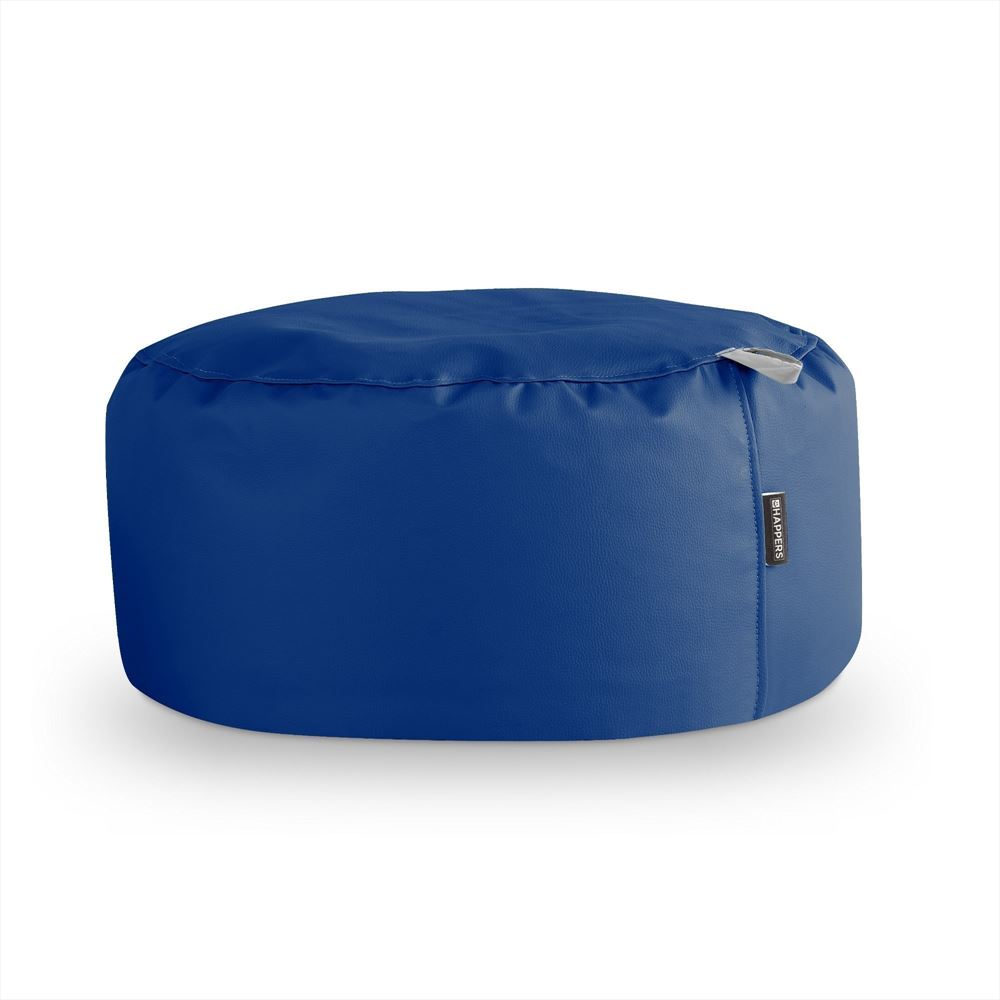 Puff Redondo Polipiel Outdoor Azul Happers