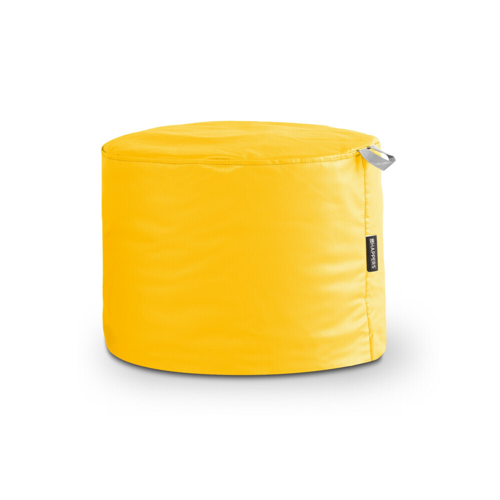 Puff Taburete Polipiel Indoor Amarillo Happers