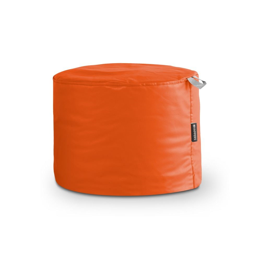 Puff Taburete Polipiel Indoor Naranja Happers