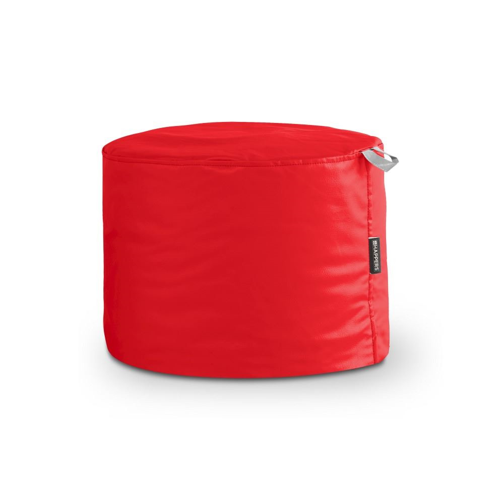 Puff Taburete Polipiel Indoor Rojo Happers
