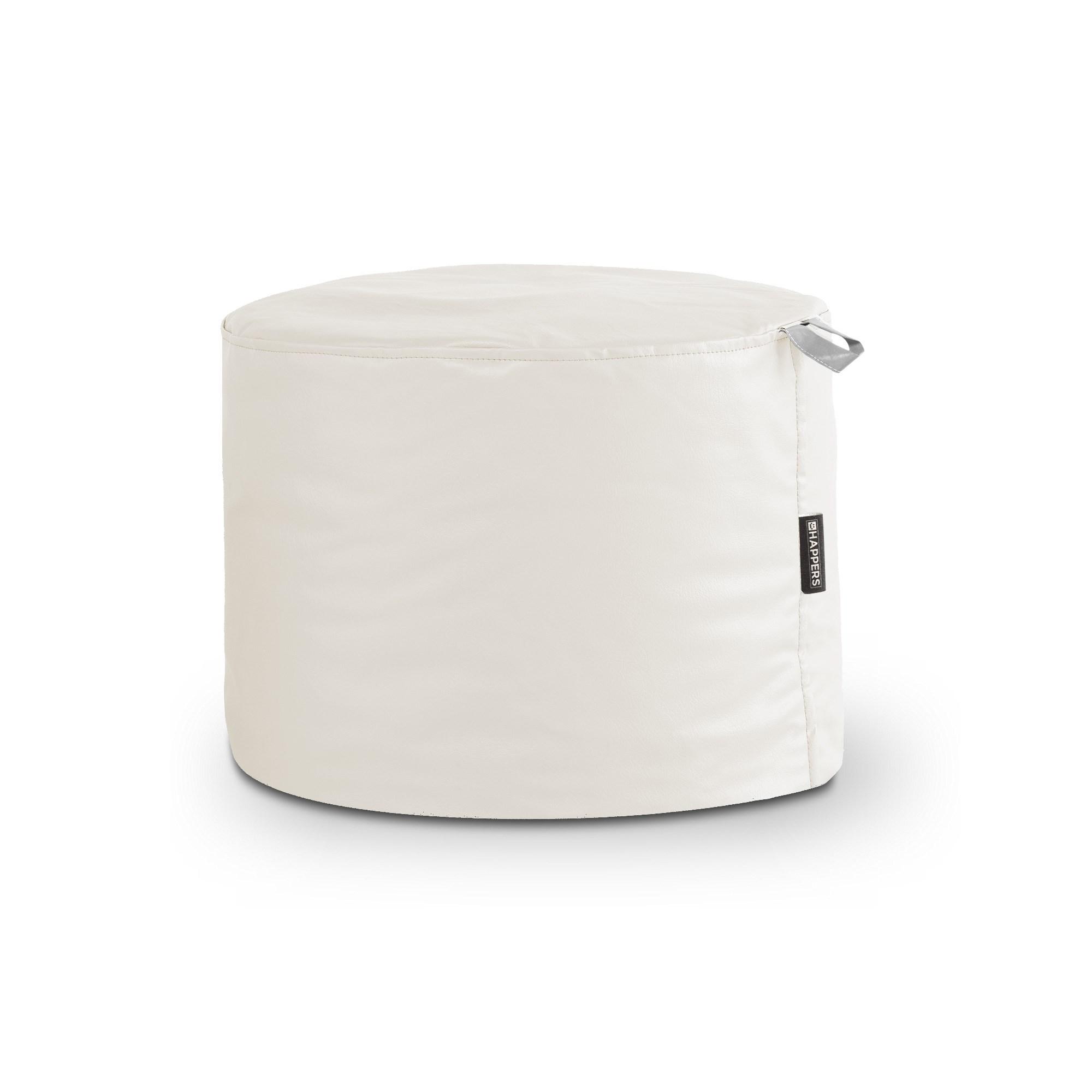 puff taburete polipiel outdoor blanco happers | happers.es