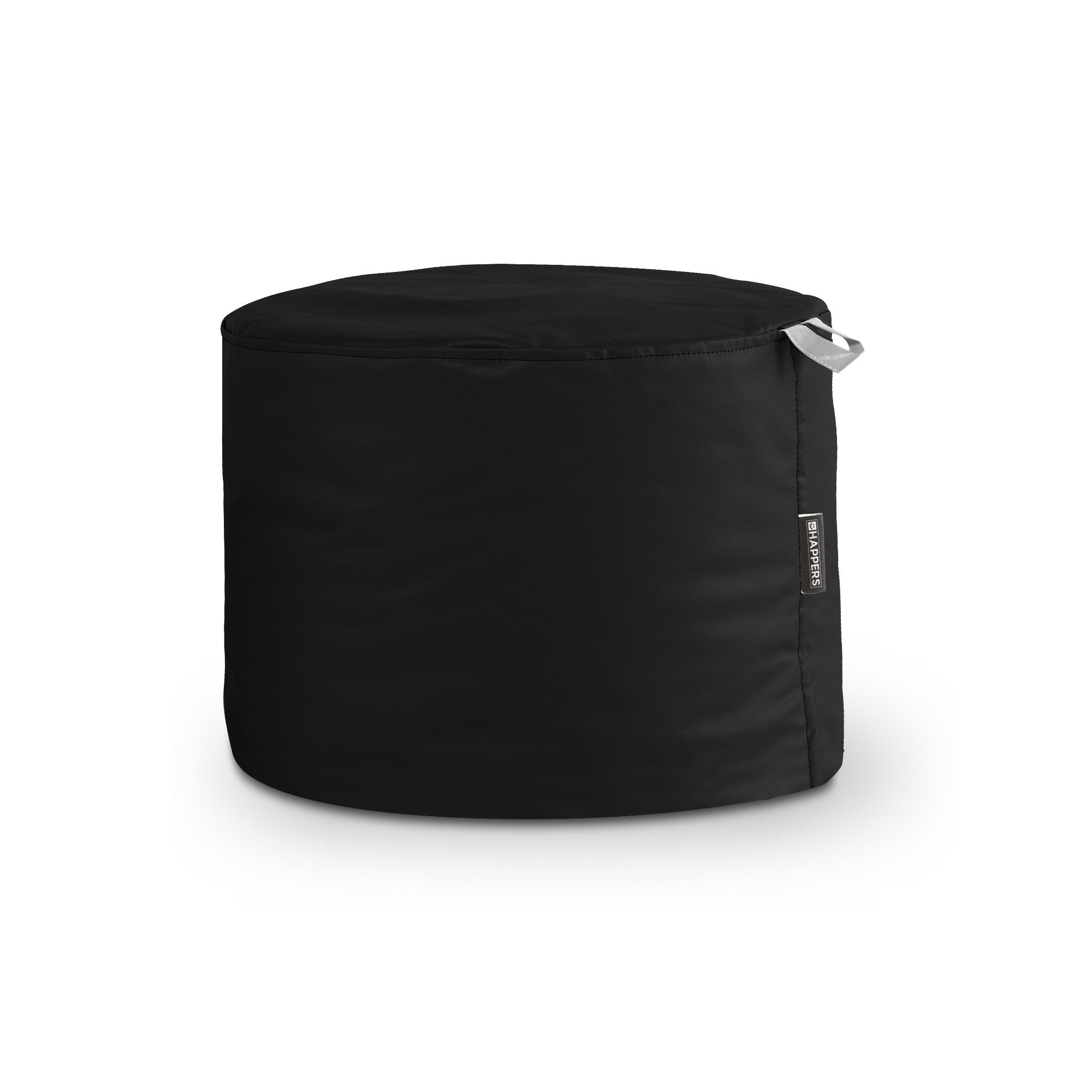 Puff Taburete Polipiel Outdoor Negro Happers
